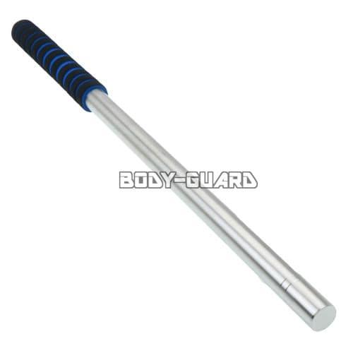 ガラス割り付き 脱着可能なストレート棍棒 シルバー