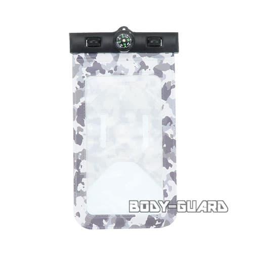 防水スマホケース ホワイトカモ