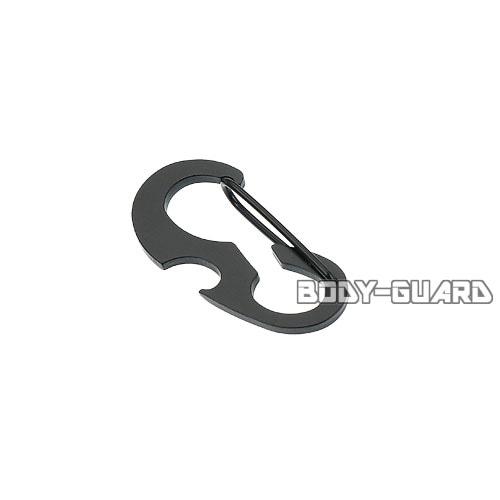 栓抜き付き カラビナ タイプ2 ブラック