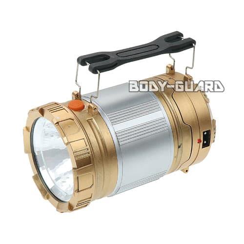 ソーラー充電式 LEDランタン タイプ2 ゴールド