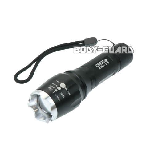 伸縮式LEDライト 1000ルーメン ブラックシルバー
