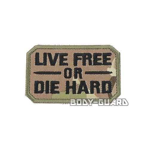 LIVE FREE OR DIE HARD ワッペン CP迷彩