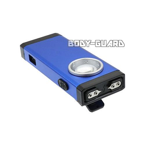 小型スタンガン クリップ付き 充電式 ブルー
