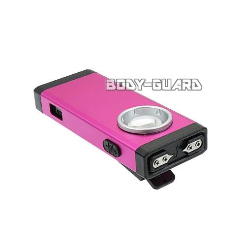 小型スタンガン クリップ付き 充電式 ピンク