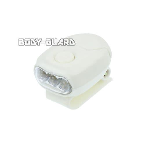 MINIクリップライト 3LED ホワイト 電池式