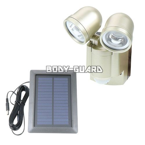 防雨 LEDセンサーライト ●2灯 ソーラー発電式 ESL-302SL ★ワイヤレスチャイム増設可能