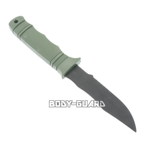 ラバー製 トレーニングナイフ タイプ3 カーキ