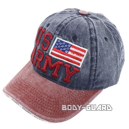 USARMY 国旗付き キャップ ボルドー×ネイビー