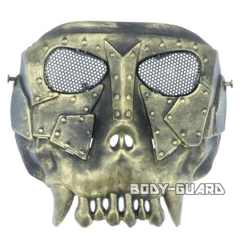 鉄仮面 燻しゴールド フルマスク